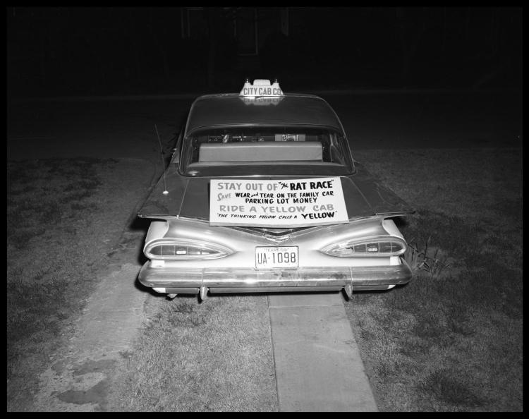 Агитация использования такси и автобусом вместо своего автомобиля. Фото № 1