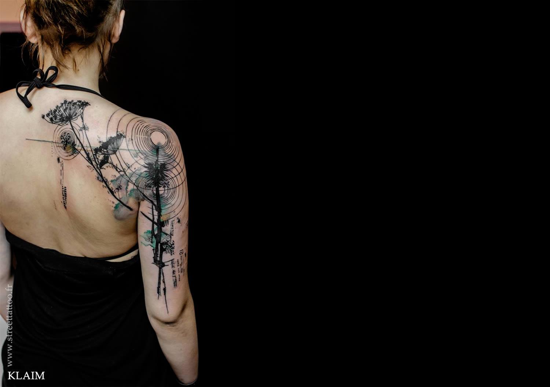 Акварельные татуировки на теле. Фото № 1