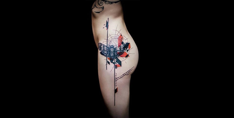 Акварельные татуировки на теле. Фото № 4