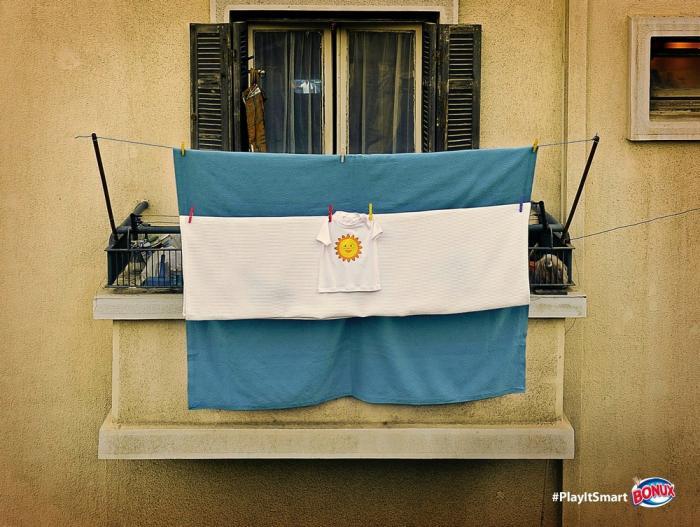 Реклама порошка Bonux в преддверии Чемпионата мира по футболу в Бразилии
