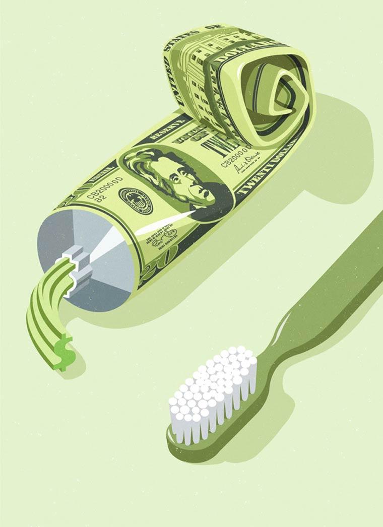 Иллюстрации на тему общества потребления. Фото № 3