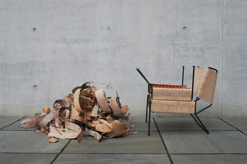Дизайнер Анастасия Кощеева. Стул из березовой коры. Фото № 1