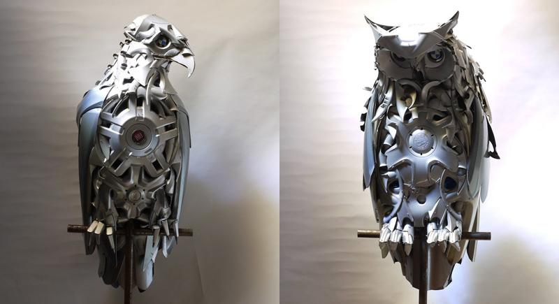 Хендмэйд из колпаков в скульптуры животных. Фото № 1