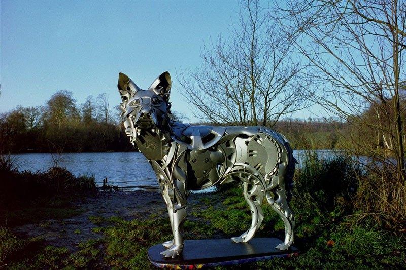 Хендмэйд из колпаков в скульптуры животных. Фото № 14