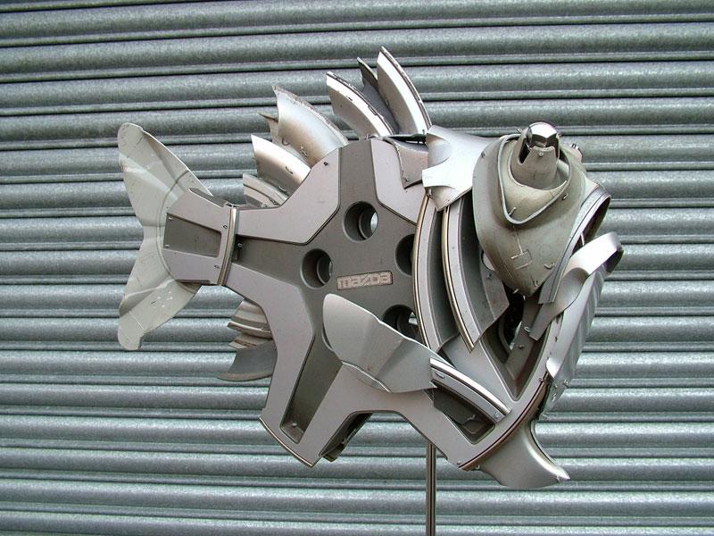 Хендмэйд из колпаков в скульптуры животных. Фото № 15