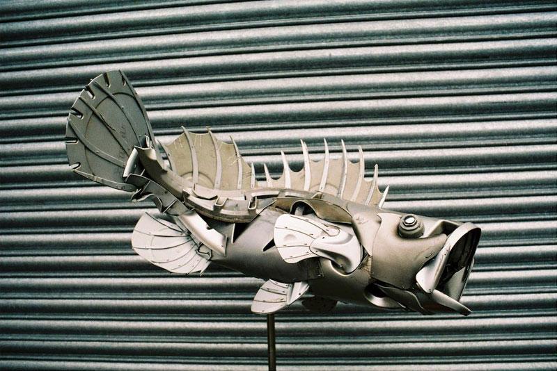 Хендмэйд из колпаков в скульптуры животных. Фото № 18