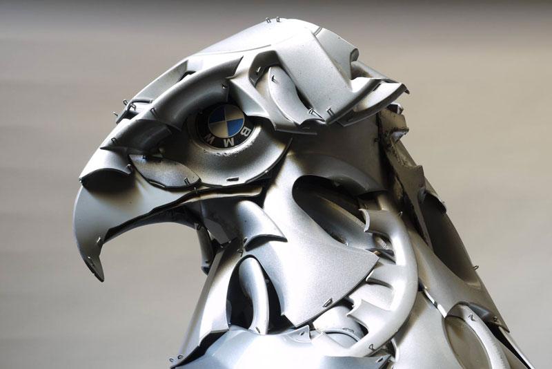 Хендмэйд из колпаков в скульптуры животных. Фото № 19
