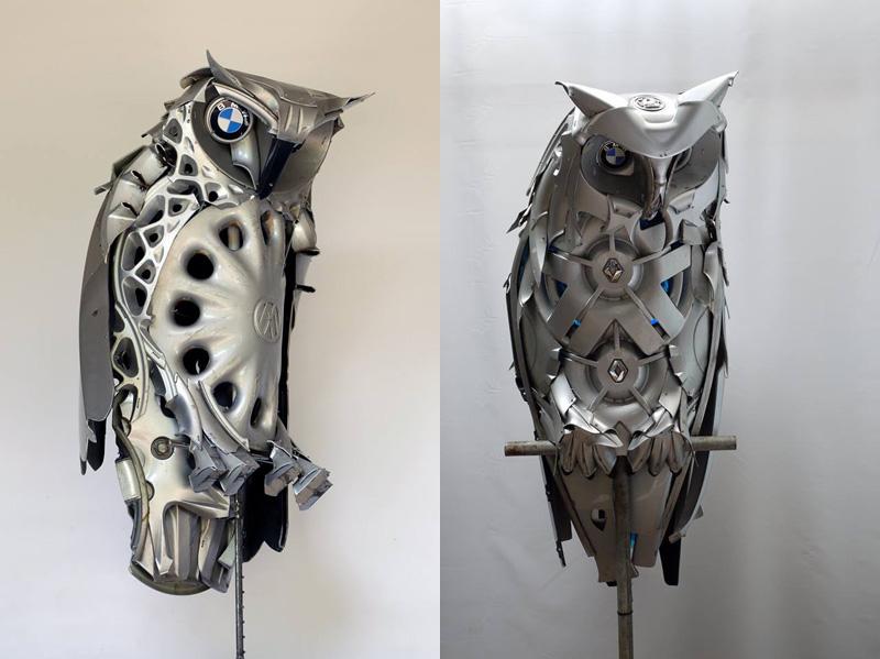 Хендмэйд из колпаков в скульптуры животных. Фото № 4