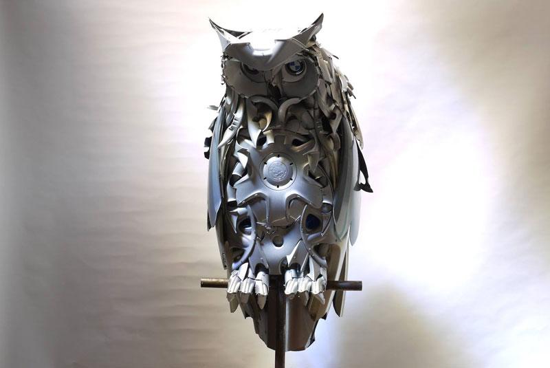 Хендмэйд из колпаков в скульптуры животных. Фото № 5