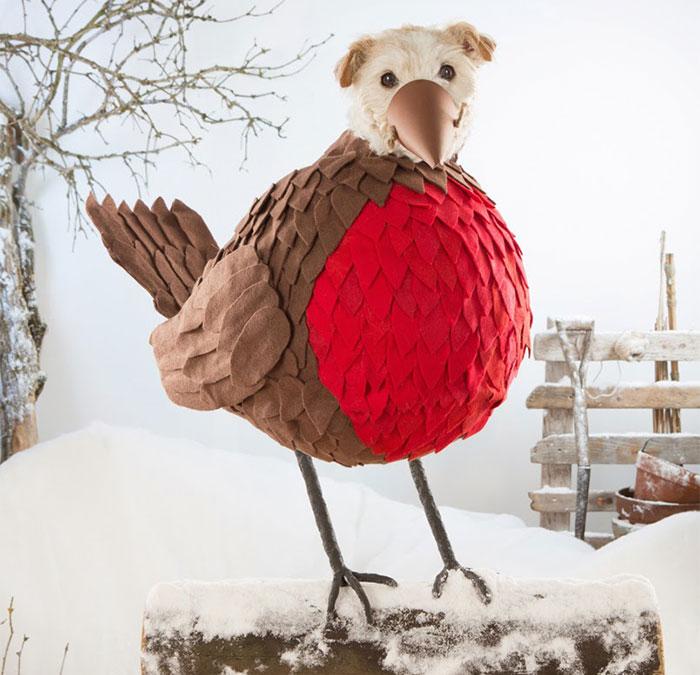 Каждое Рождество собака превращается в новое животное. Фото № 8