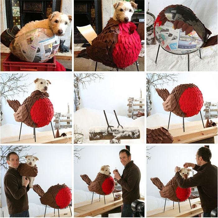 Каждое Рождество собака превращается в новое животное. Фото № 9