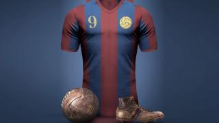 Винтажная футбольная форма Барселоны. Фото