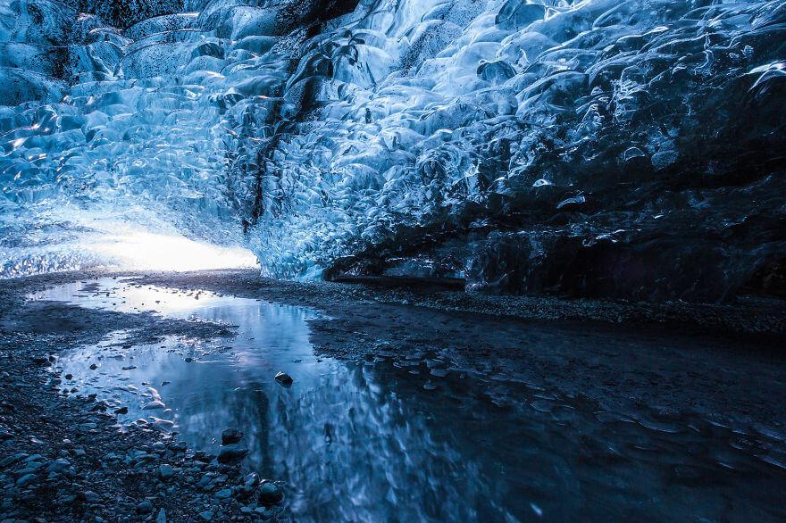 Ледяная пещера в Исландии. Фото № 14