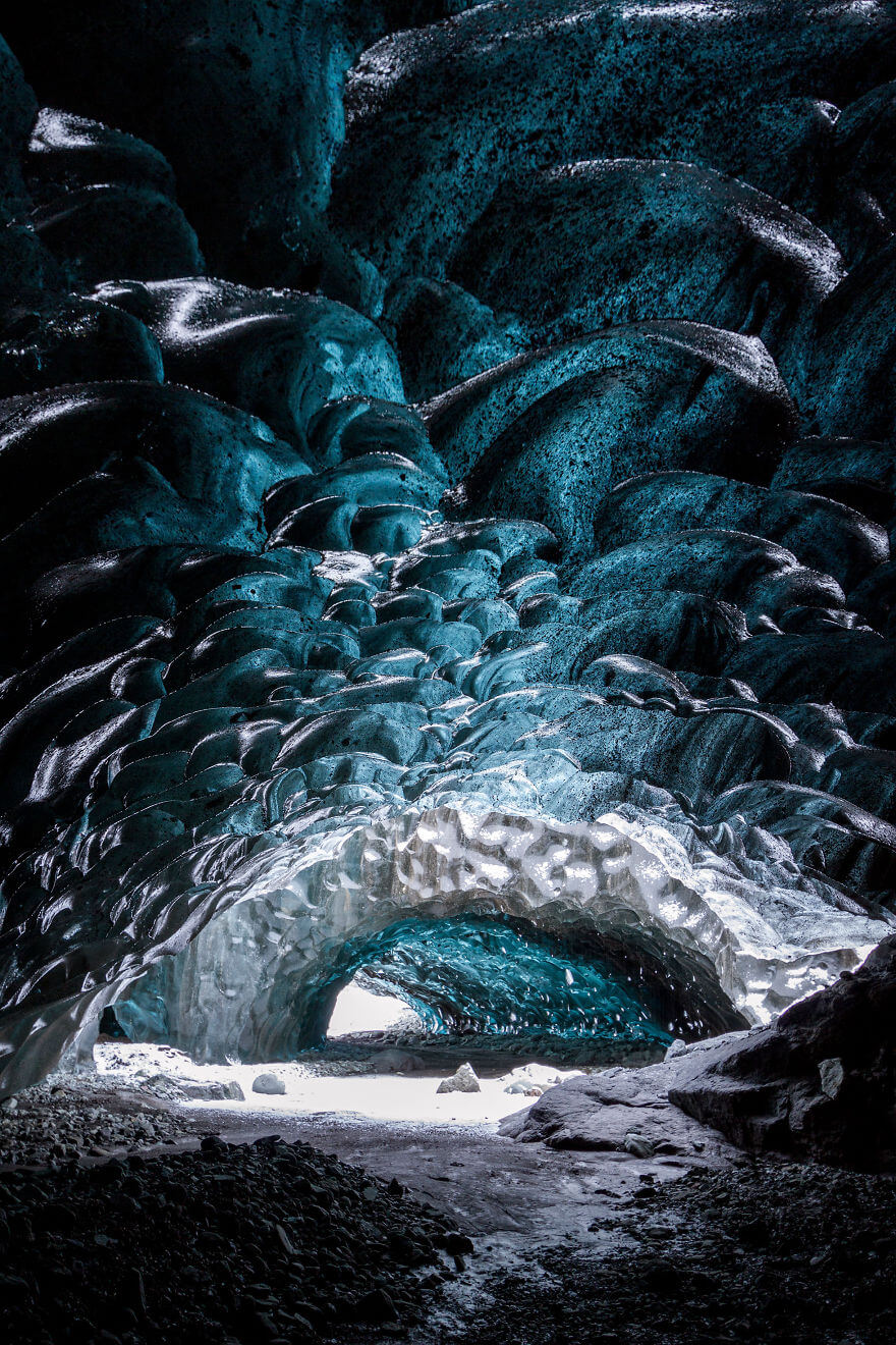 Ледяная пещера в Исландии. Фото № 2