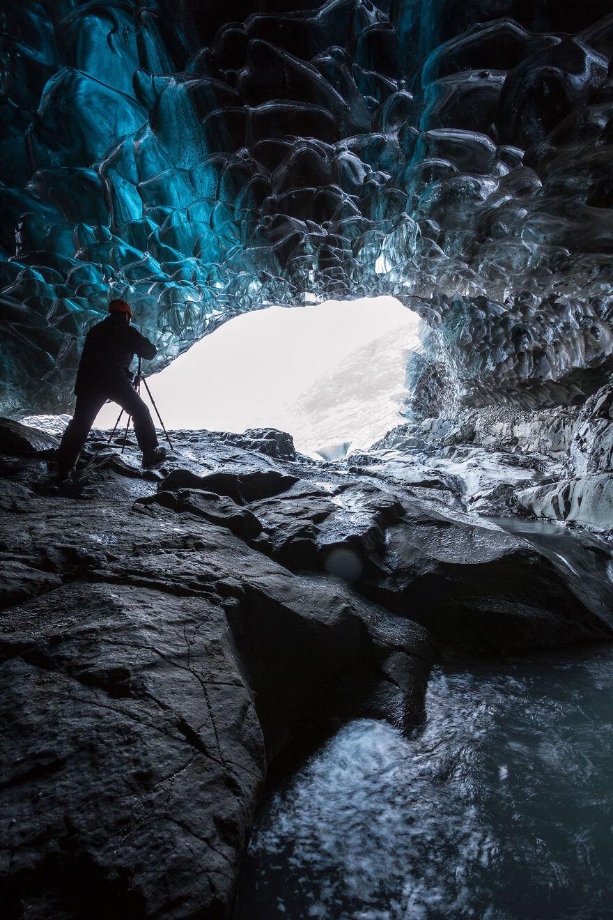 Ледяная пещера в Исландии. Фото № 7