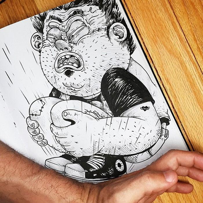 Забавные иллюстрации. Как подраться с картинкой. Фото № 18