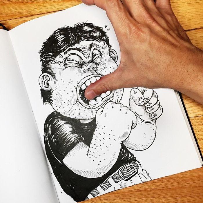 Забавные иллюстрации. Как подраться с картинкой. Фото № 5