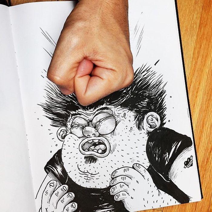 Забавные иллюстрации. Как подраться с картинкой. Фото № 6