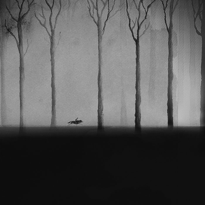 Черно-белые акварельные рисунки. Фото № 1