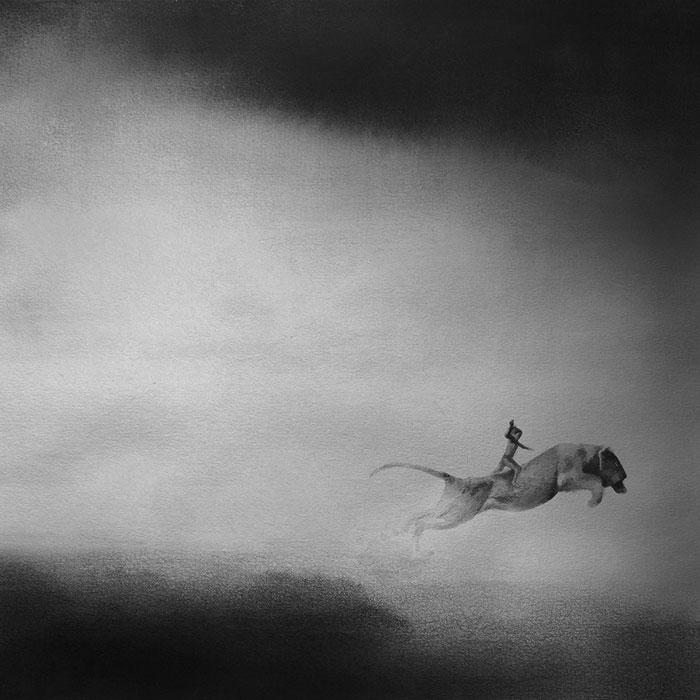 Черно-белые акварельные рисунки. Фото № 9