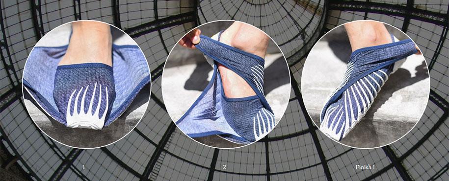 Фурошики. Японская обувь из ткани. Фото № 6