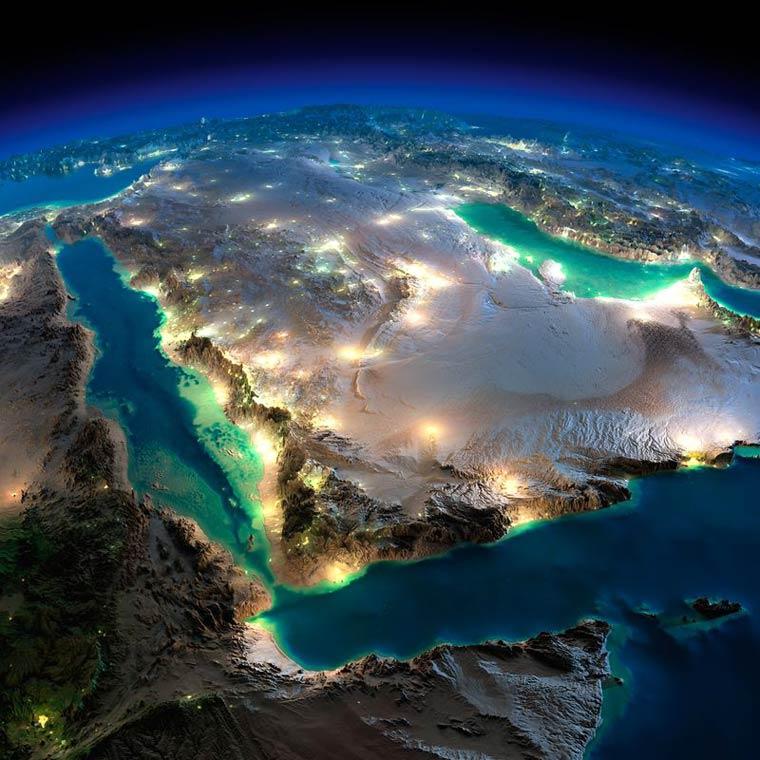 Как выглядит Земля ночью из космоса. НАСА. Фото № 1