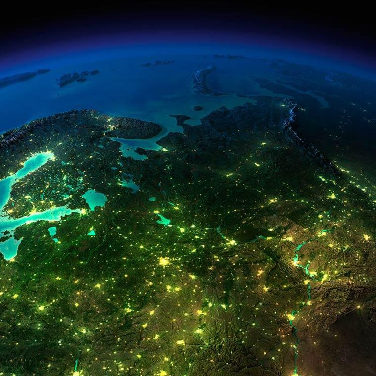 Как выглядит Земля ночью из космоса. НАСА. Фото № 10