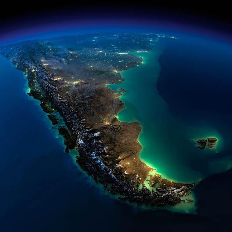 Как выглядит Земля ночью из космоса. НАСА. Фото № 12