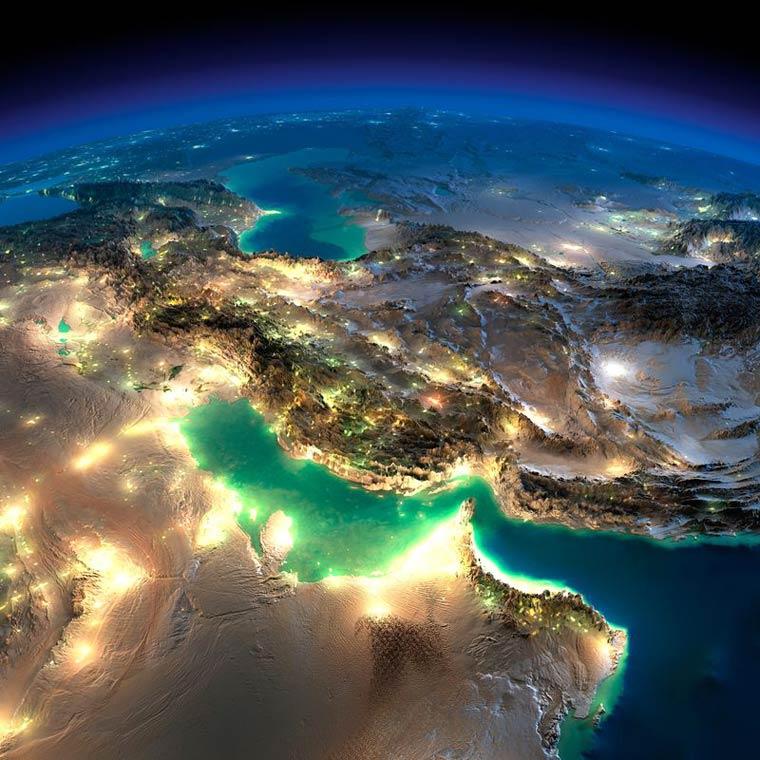 Как выглядит Земля ночью из космоса. НАСА. Фото № 13
