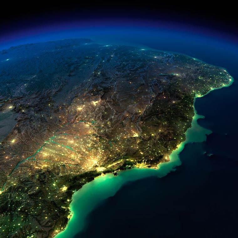 Как выглядит Земля ночью из космоса. НАСА. Фото № 14