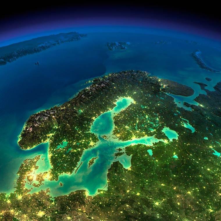 Как выглядит Земля ночью из космоса. НАСА. Фото № 15