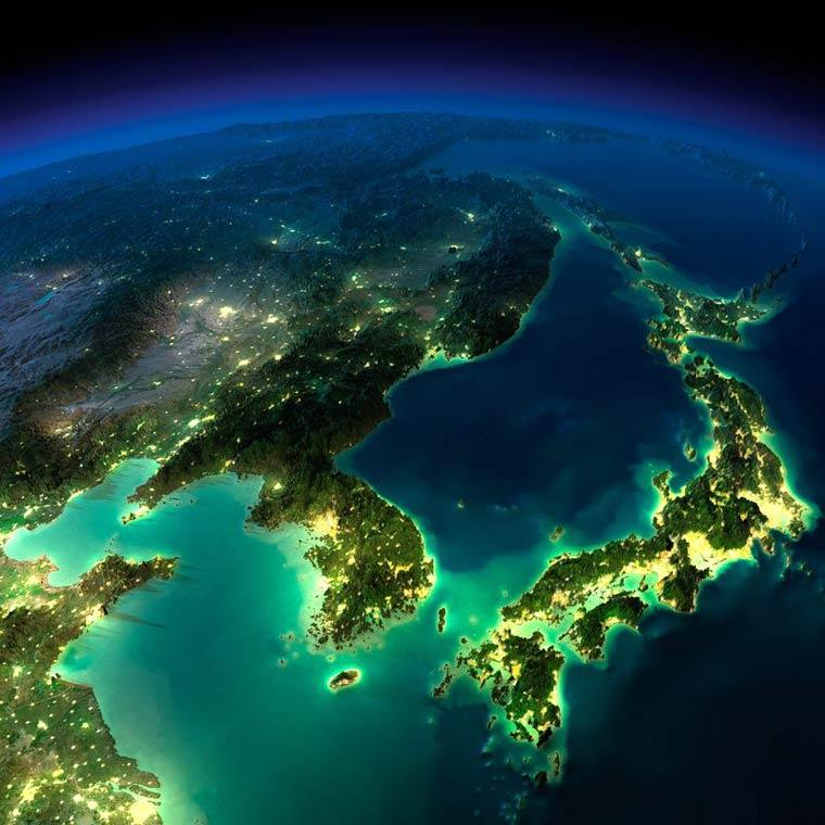 Как выглядит Земля ночью из космоса. НАСА. Фото № 16