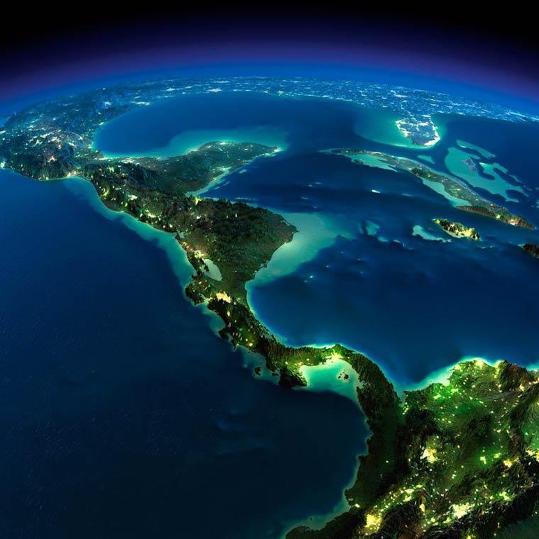 Как выглядит Земля ночью из космоса. НАСА. Фото № 19