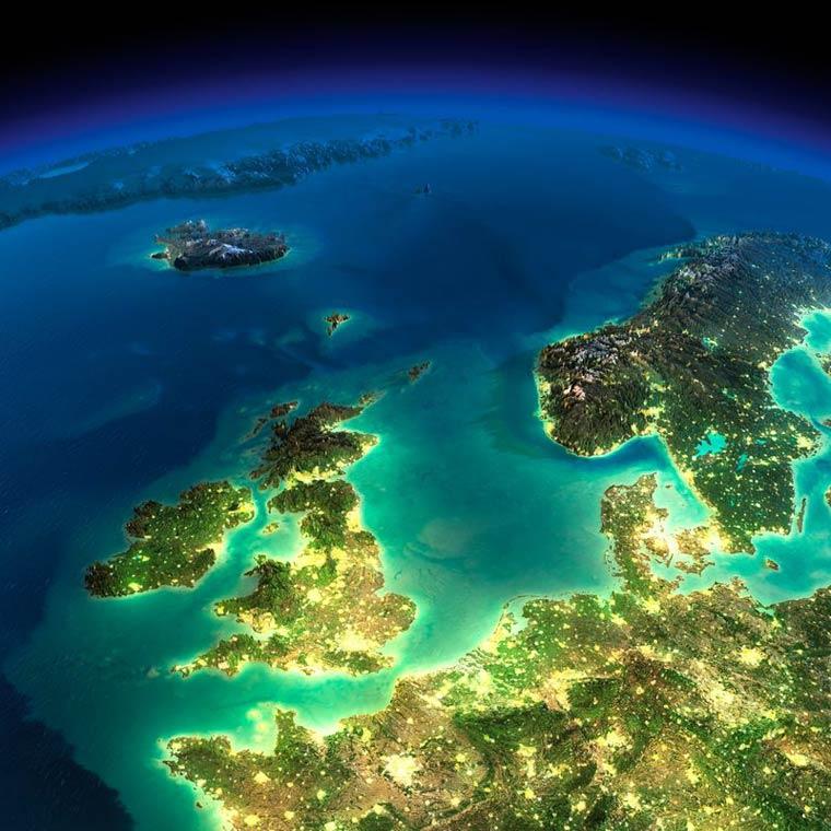 Как выглядит Земля ночью из космоса. НАСА. Фото № 20
