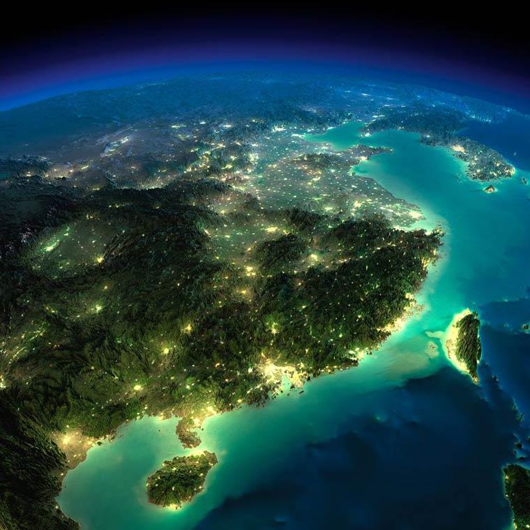Как выглядит Земля ночью из космоса. НАСА. Фото № 21