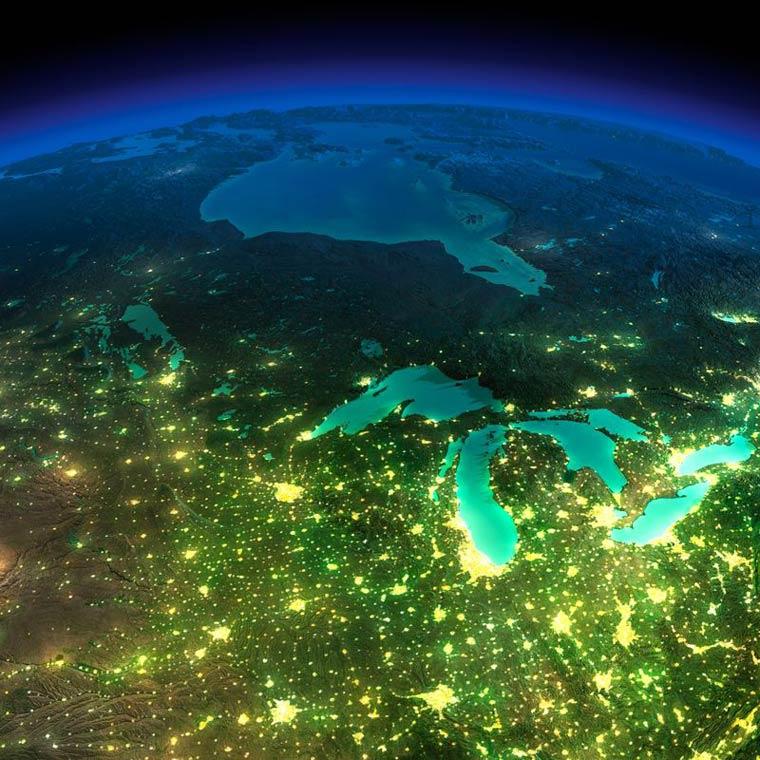 Как выглядит Земля ночью из космоса. НАСА. Фото № 22
