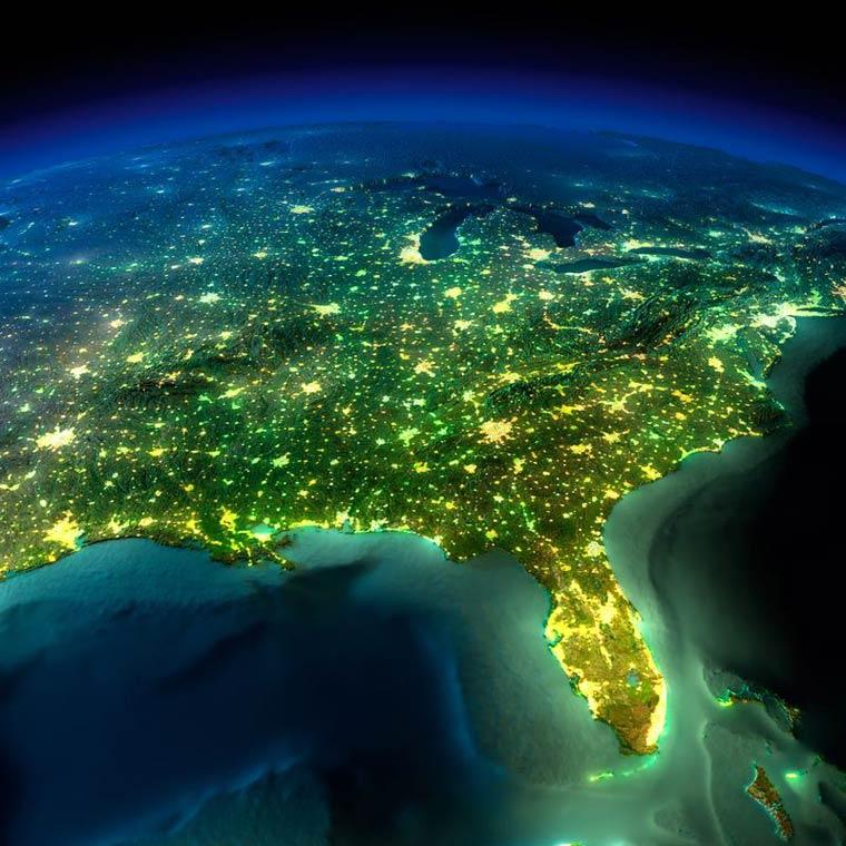 Как выглядит Земля ночью из космоса. НАСА. Фото № 4