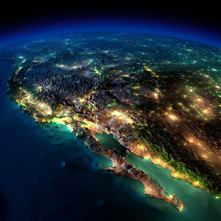 Как выглядит Земля ночью из космоса. НАСА. Фото № 5