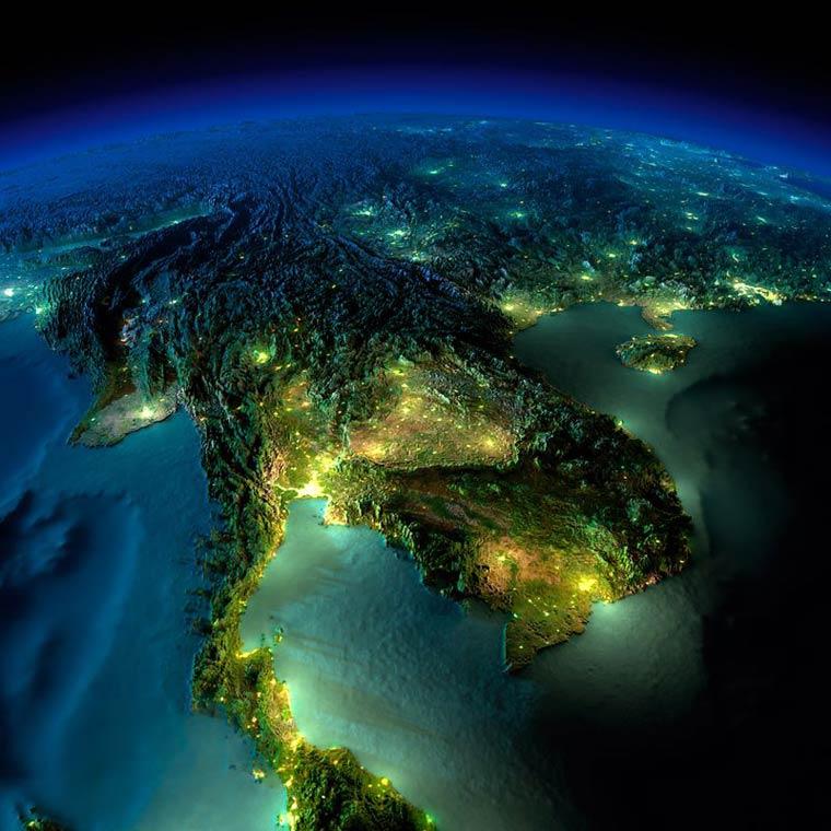 Как выглядит Земля ночью из космоса. НАСА. Фото № 6