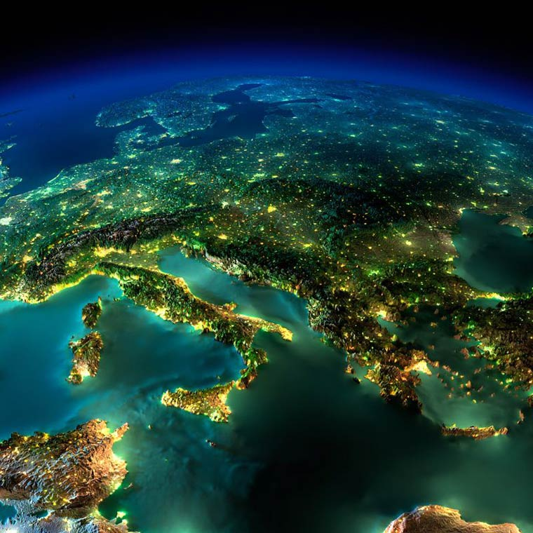 Как выглядит Земля ночью из космоса. НАСА. Фото № 7