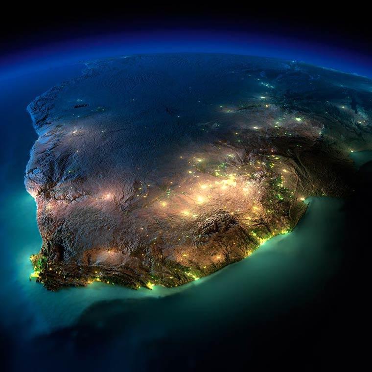 Как выглядит Земля ночью из космоса. НАСА. Фото № 8