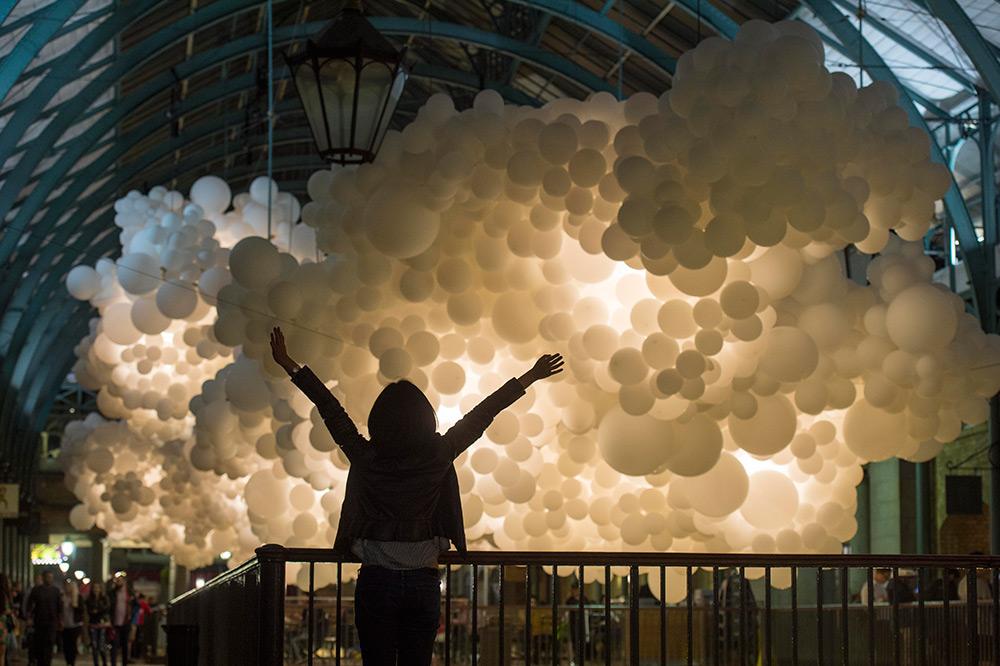 Облако из шаров. Фото № 5