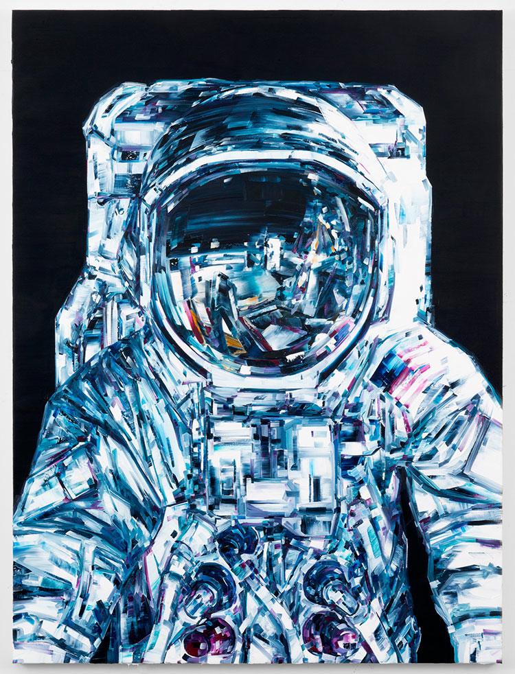 космос, картины маслом, техника импасто_1