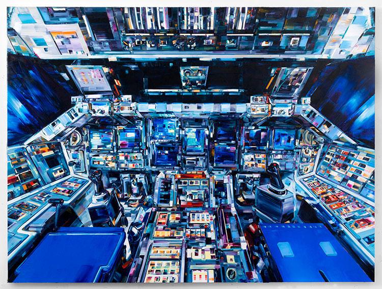 космос, картины маслом, техника импасто_2