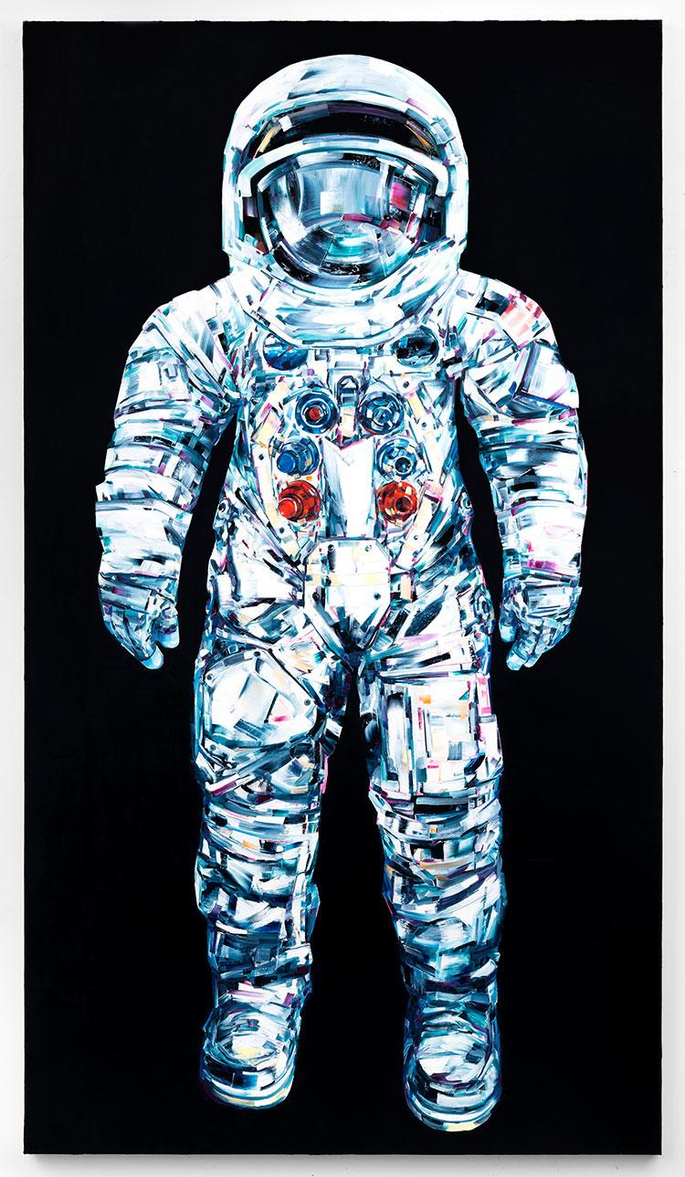 космос, картины маслом, техника импасто_7