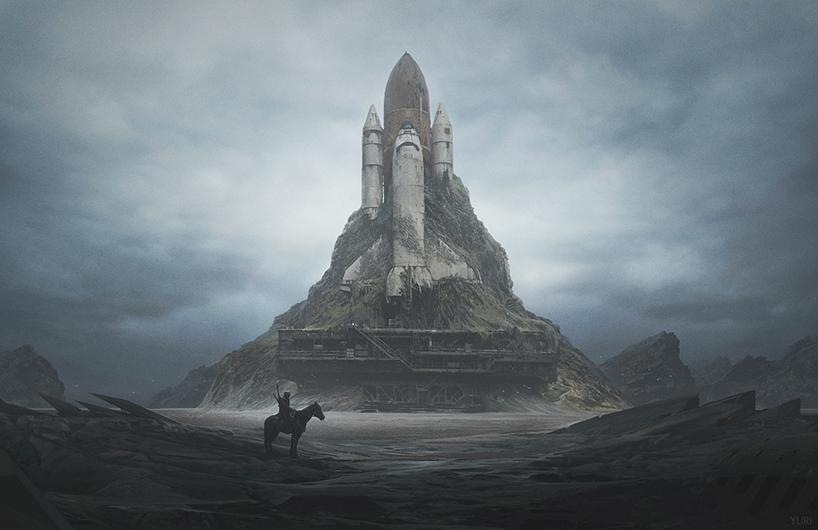 апокалиптика, постапокалиптические пейзажи будущего, компьютерная графика_1