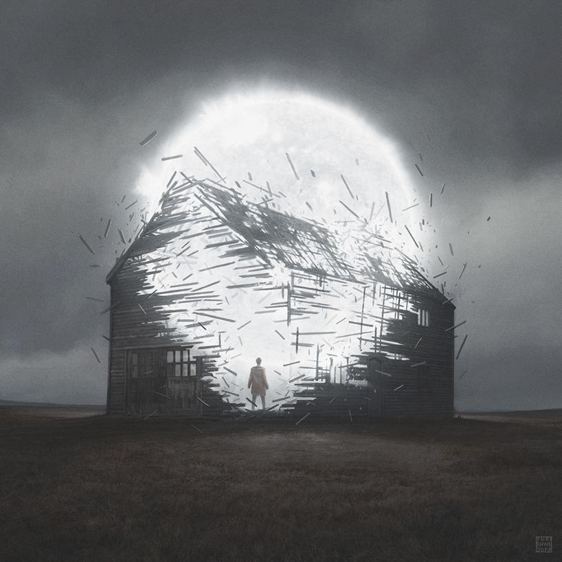 апокалиптика, постапокалиптические пейзажи будущего, компьютерная графика_10