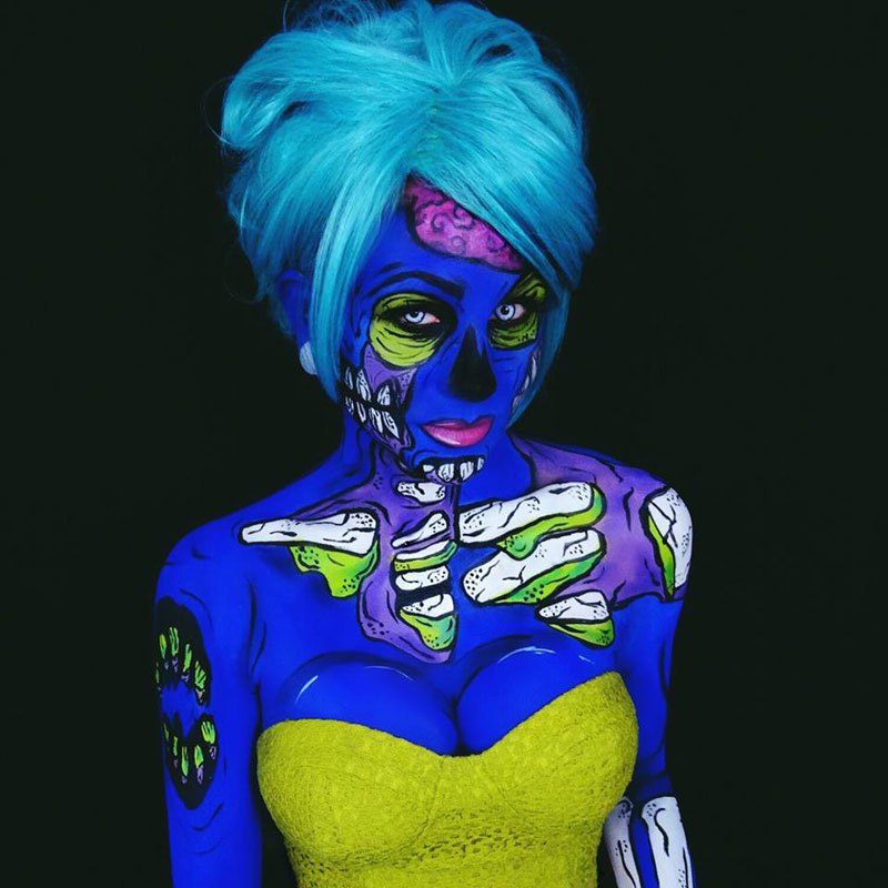 бодиарт, рисунки на теле, фото, хэллоуин-10