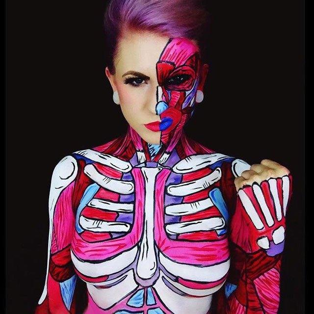бодиарт, рисунки на теле, фото, хэллоуин-12