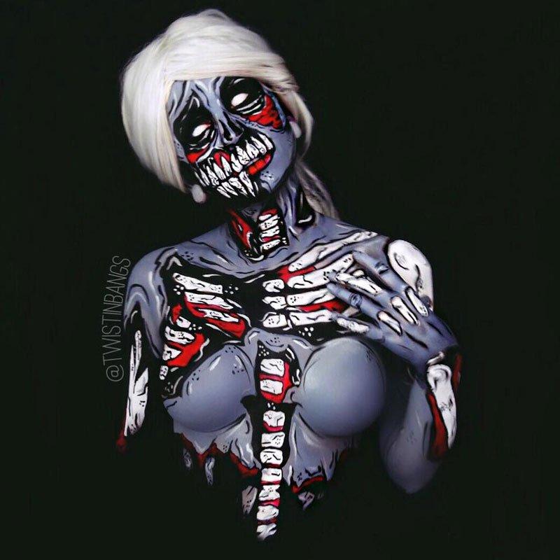 бодиарт, рисунки на теле, фото, хэллоуин-14